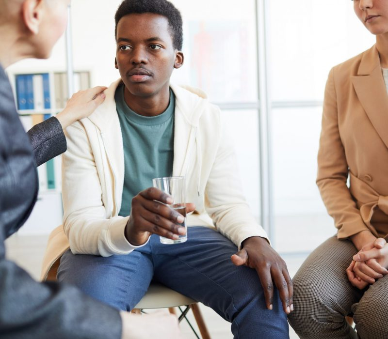 African-American Teenager in Therapy Session